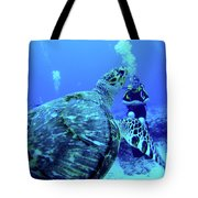 Monster Turtle Attacks Jeanne Tote Bag