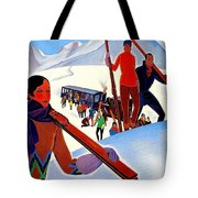 Mont Blanc, Mountain, France, Skiing Tote Bag