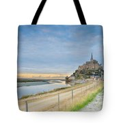 Mont St Michel At Sunset  Tote Bag