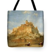 Mont St Michel From The Sands By David Roberts Tote Bag