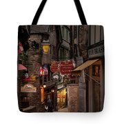 Mont-st-michel, Grand Rue At Night Tote Bag