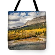 Montana Landscape In Fall Tote Bag