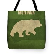 Montana State Facts Minimalist Movie Poster Art Tote Bag