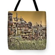 Montana Steam Punk - Nevada City Ghost Town Tote Bag by Daniel Hagerman