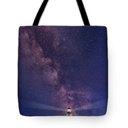Montauk Point And The Milky Way Tote Bag