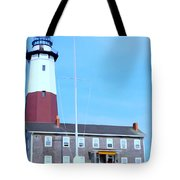 Montauk Point Light  Tote Bag