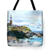 Montauk Point Light Tote Bag