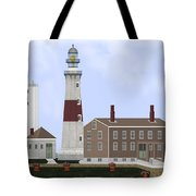 Montauk Point Lighthouse Long Island New York Tote Bag