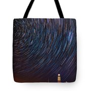 Montauk Star Trails Tote Bag
