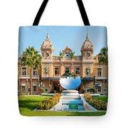Monte Carlo Casino And Sky Mirror In Monaco Tote Bag