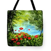 Monte Rio Poppies Tote Bag