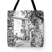 Montefioralle Tuscany Tote Bag