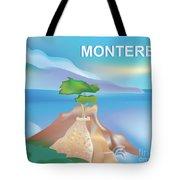 Monterey Bay California Horizontal Scene Tote Bag