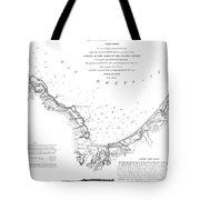 Monterey Harbor California 1852 Tote Bag