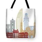 Montevideo Skyline Poster Tote Bag