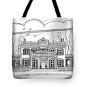 Montgomery Place Red Hook Ny Tote Bag by Richard Wambach