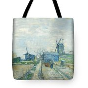 Montmartre   Mills And Vegetable Gardens, Paris Tote Bag