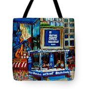 Montreal City Paintings By Streetscene Specialist Carole Spandau  Over 500 Prints Available Tote Bag
