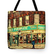 Montreal Cityscenes By Streetscene Artist Carole Spandau Tote Bag by Carole Spandau