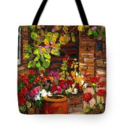 Montreal Cityscenes Homes And Gardens Tote Bag