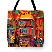 Montreal Early Autumn Tote Bag by Carole Spandau