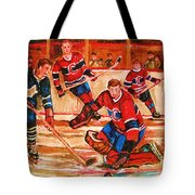 Montreal Forum Hockey Game Tote Bag