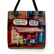Montreal Paintings  Available For Fundraisers By Streetscene  Artist Carole Spandau  Tote Bag