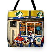 Montreal Poolroom Hockey Fans Tote Bag