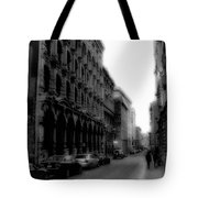 Montreal Street Black And White Tote Bag