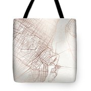 Montreal Street Map Colorful Copper Modern Minimalist Tote Bag