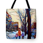 Montreal Winter Tote Bag