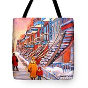 Montreal Winter Walk Tote Bag