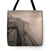 Montserrat Winter Morning Bw Tote Bag
