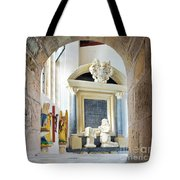 Monument In St Mylor Church Tote Bag