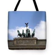 Monument On Brandenburger Tor  Tote Bag