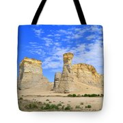 Monument Rocks In Kansas 2 Tote Bag