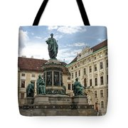 Monument To Emperor Franz I, Innerer Burghof In The Hofburg Imperial Palace. Vienna, Austria. Tote Bag