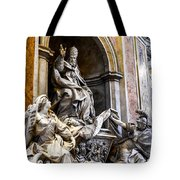 Monument To Pope Gregory Xiii In St Peter's Basilica Tote Bag