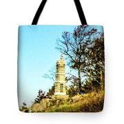 Monument To The 91st Pennsylvania  Volunteers Tote Bag