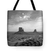 Monument Valley Monochrome Tote Bag
