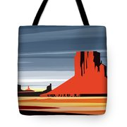 Monument Valley Sunset Digital Realism Tote Bag