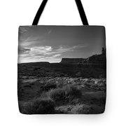 Monument Valley View - Black And White Tote Bag