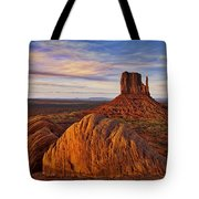 Monument Valley West Mitten Tote Bag