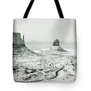 Monument Valley, Winter Tote Bag