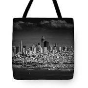 Moody Black And White Photo Of San Francisco California Tote Bag
