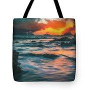 Moody Ocean Tote Bag