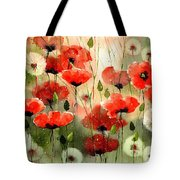 Moody Poppies In The Afternoon Tote Bag