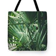 Moody Tropical Leaves Tote Bag