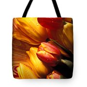 Moody Tulips Tote Bag by Garry Gay