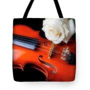 Moody Violin And Rose  Tote Bag